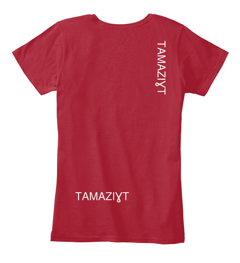 TamaziƔt TamaziƔt Red Women's T-Shirt Back