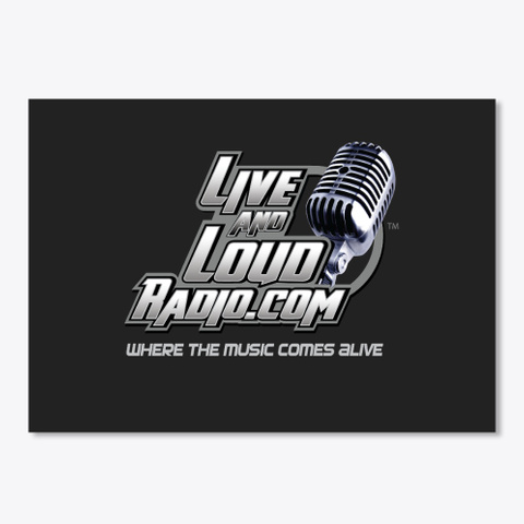 Live And Loud Radio Classic Logo Merch Black T-Shirt Front