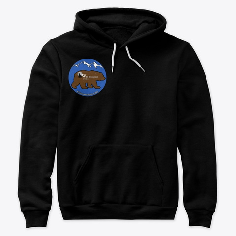 Kodiak Bear Premium Hoodie Black T-Shirt Front