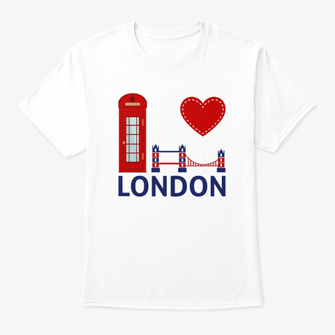 I Love London White T-Shirt Front