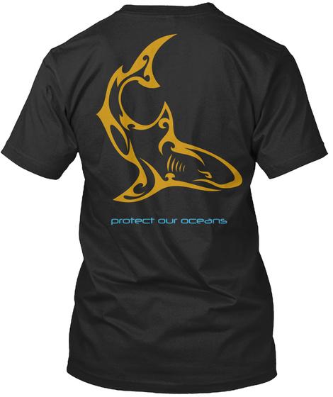 Edfaro Protect Our Oceans Black T-Shirt Back