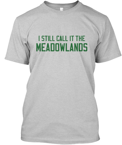 Naming Wrongs: Meadowlands (Grey/Green) Light Steel T-Shirt Front