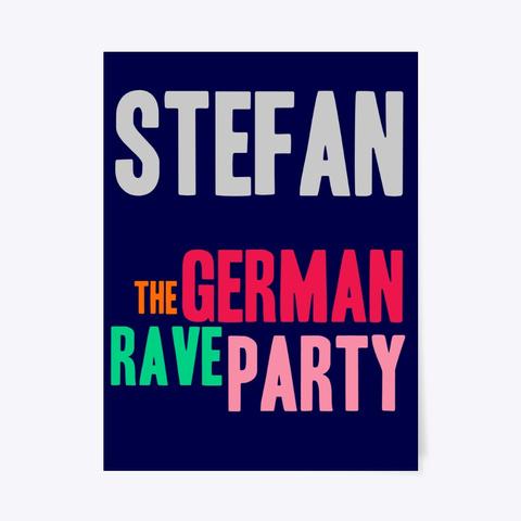 Plakat / Stefan Dark Navy T-Shirt Front