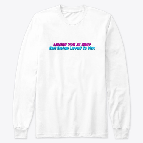 Voicemails Lyrics Long Sleeve Tee White T-Shirt Front