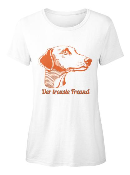 Der Treuste Freund White T-Shirt Front