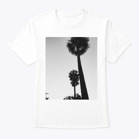 Palm Trees Tee White T-Shirt Front