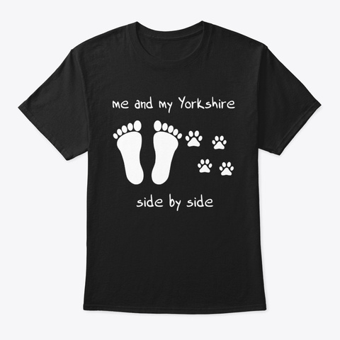 Yorkshire Terrier Black T-Shirt Front