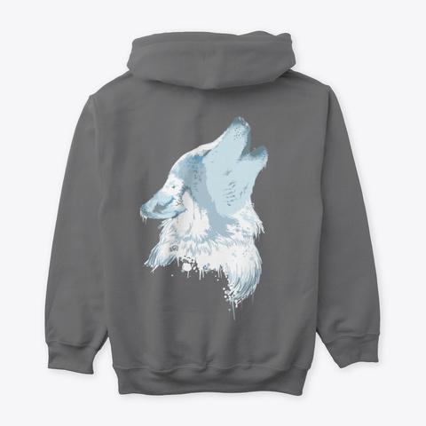 Howling Wolf Dark Heather T-Shirt Back