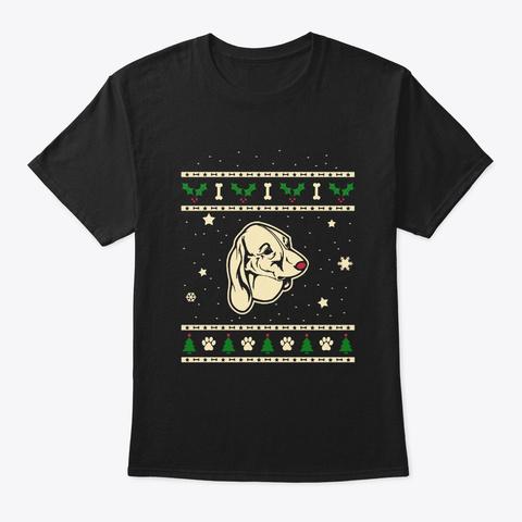 Christmas Estonian Hound Gift Black T-Shirt Front