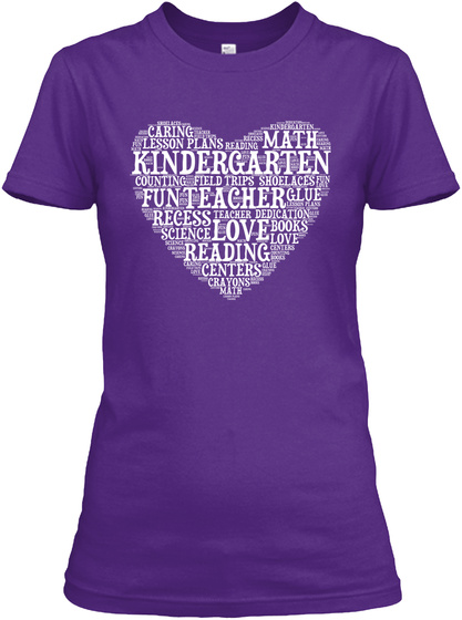 Care Lesson Math Kindergarten Fun Teacher Recess Science Love Books Love Reading Centres Crayons Glue Purple T-Shirt Front