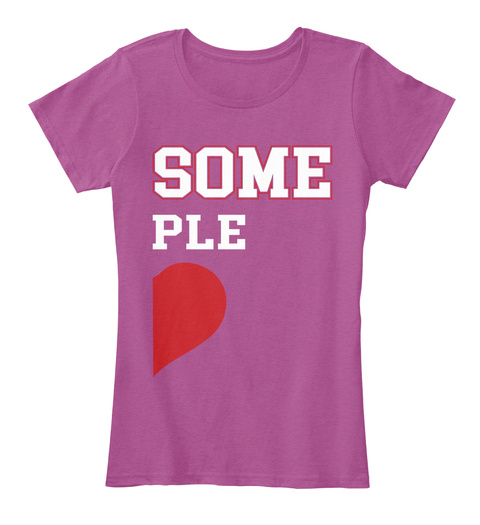 Some Ple Heathered Pink Raspberry T-Shirt Front