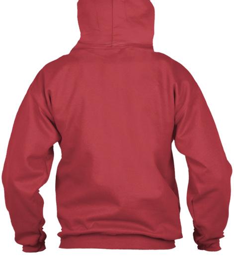 Sgk Zip Up Hoodie Deep Red Camiseta Back