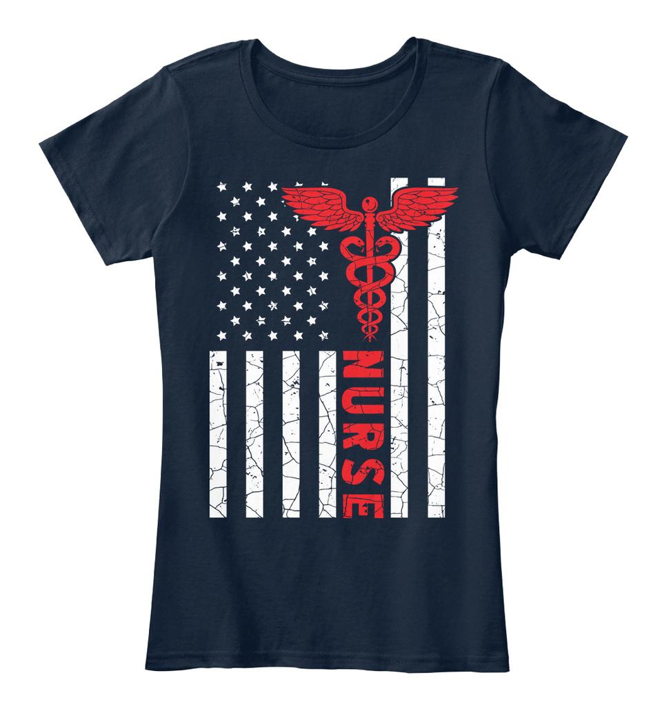 Nurse Appreciation Gift American Flag