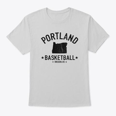 Portland Rustic Basketball Light Steel T-Shirt Front