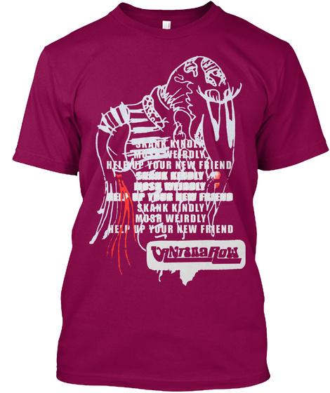 Vantana Row Ska Tee (Pink Or Black) Cardinal T-Shirt Front