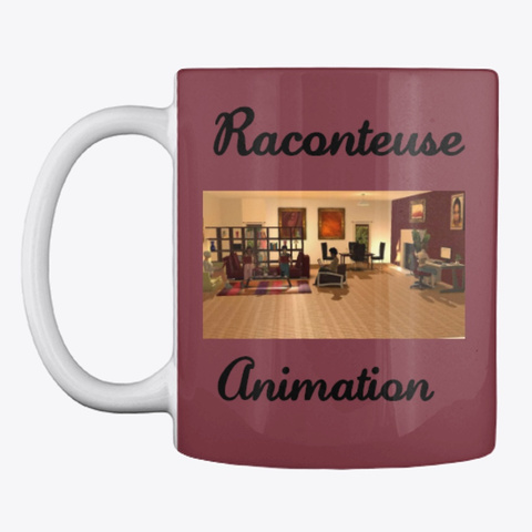 Raconteuse Animation Mugs Ii Maroon T-Shirt Front