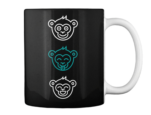 My Circus, My Monkeys Black Mug Back