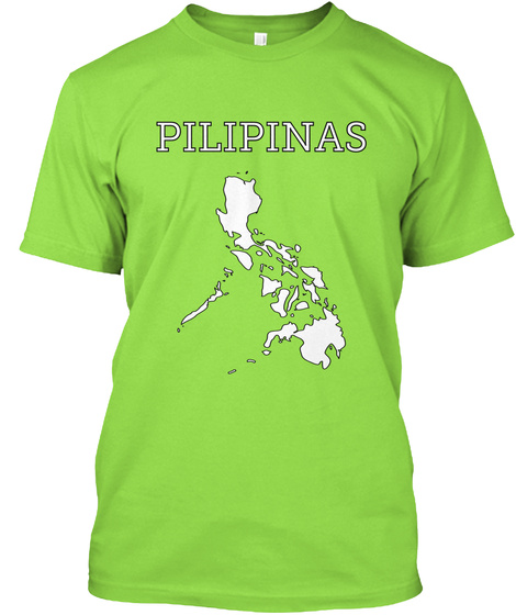 Pilipinas Lime T-Shirt Front