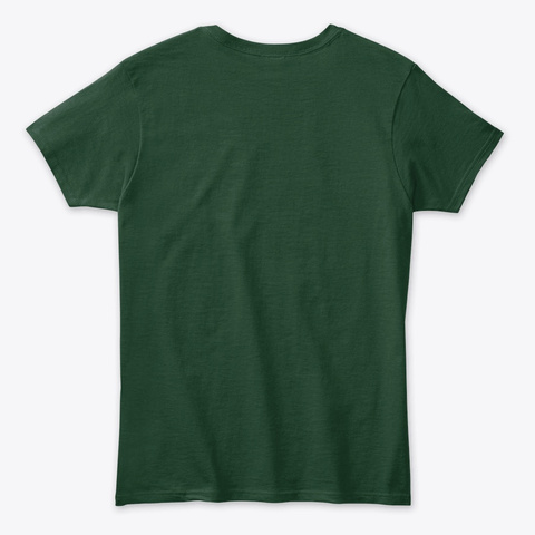 Drink Like A Girl St. Patrick's Blue Forest Green T-Shirt Back