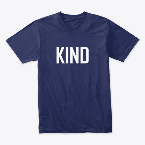 Kind By Vfa Lifestyle Midnight Navy T-Shirt Front