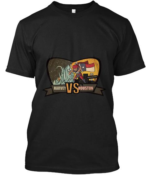 Help Houston Beat Harvey Black T-Shirt Front