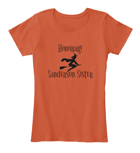 Honorary Sanderson Sister Deep Orange T-Shirt Front