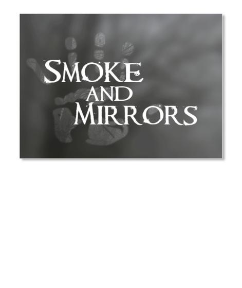 Smoke And Mirrors Hand Logo Sticker White T-Shirt Front