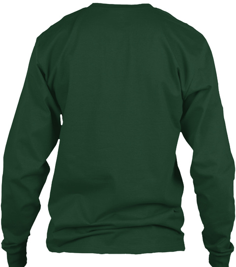 Awesome V 22 Christmas Shirt! Forest Green Long Sleeve T-Shirt Back