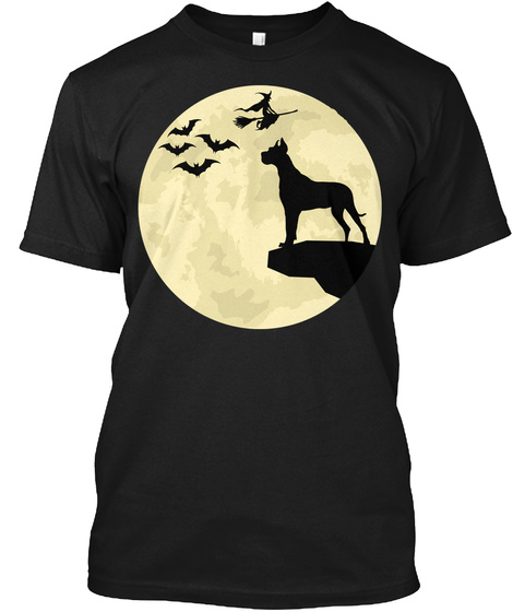 Halloween Great Dane  Black T-Shirt Front