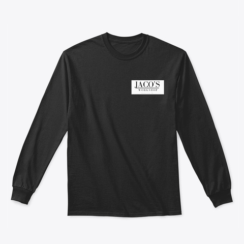 Jacos Two Sided Long Sleeve Tee Black T-Shirt Front