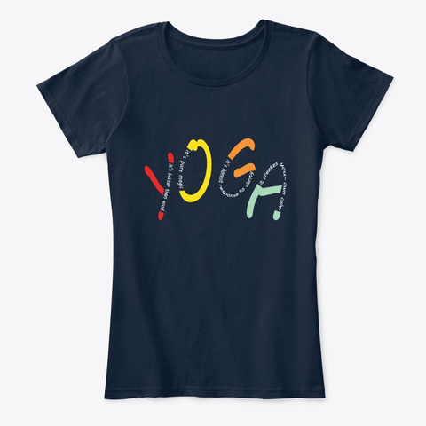 Colors Of Yoga New Navy T-Shirt Front