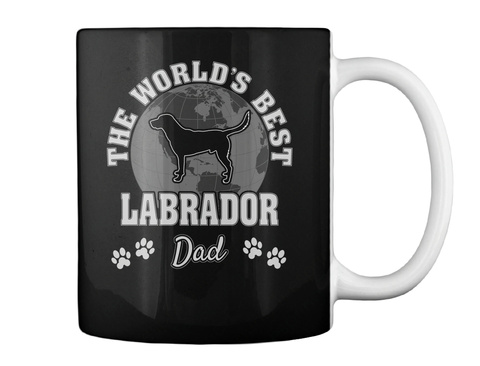 The World's Best Labrador Dad Black Mug Back