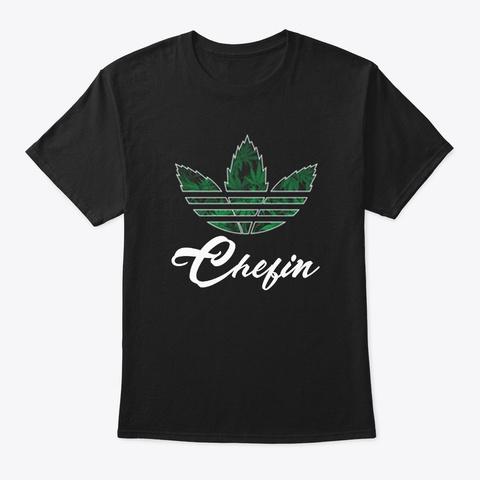 Chefin T Shirt Custom Design Black T-Shirt Front