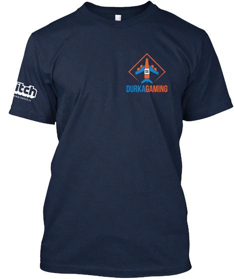 Bru Crew Navy T-Shirt Front