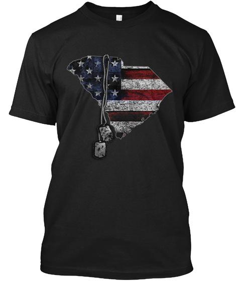 South Carolina Honors Veterans Black T-Shirt Front