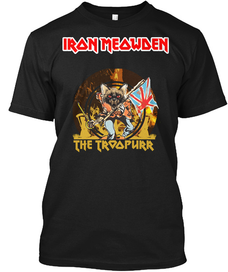 Iron Meowden The Trial Her Black T-Shirt Front