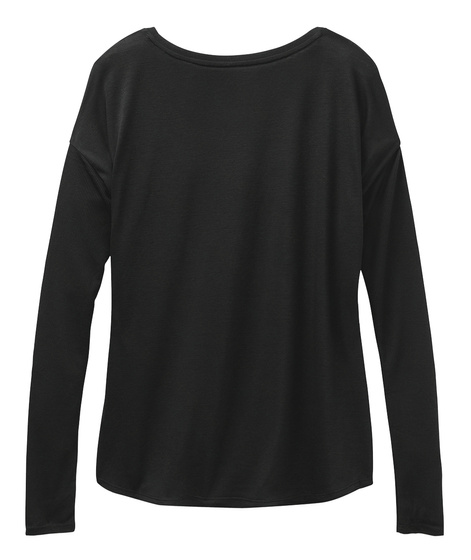 Long Life Chinese Charm Long Sleeve Black T-Shirt Back