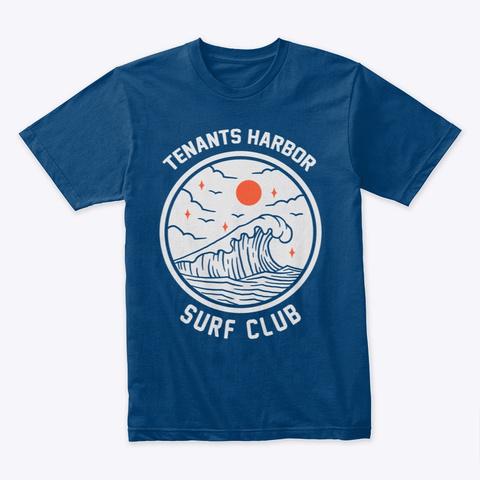 Tenants Harbor Surf Club Cool Blue T-Shirt Front