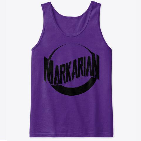 Markarian Black On Purple Tank Top Purple T-Shirt Front