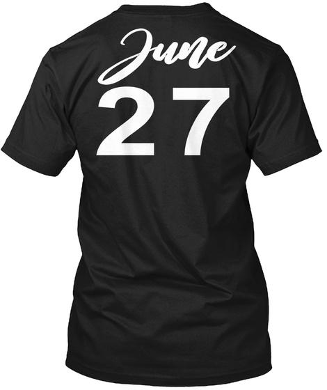 June 27   Cancer Black T-Shirt Back