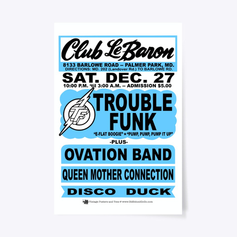 Trouble, Ovation   Club Lebaron   Poster Standard T-Shirt Front
