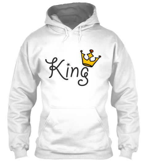 King And Queen Couples 41 White T-Shirt Front