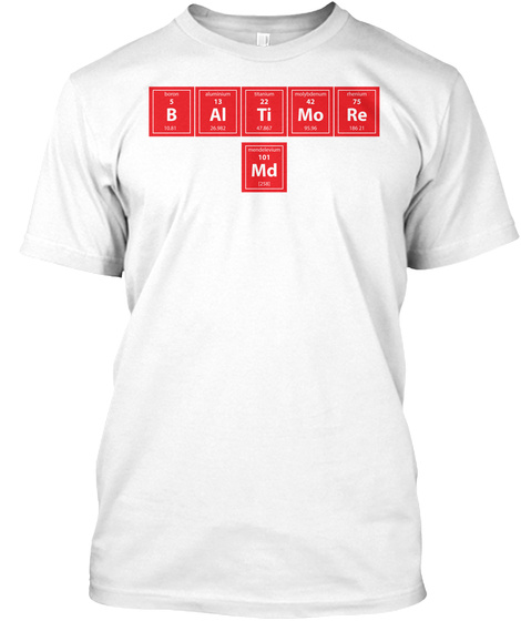 B Ai Ti Mo Re Md White T-Shirt Front