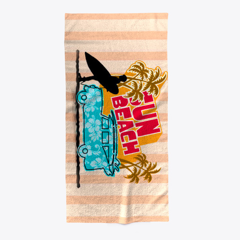 Fun Beach Towel Standard T-Shirt Front