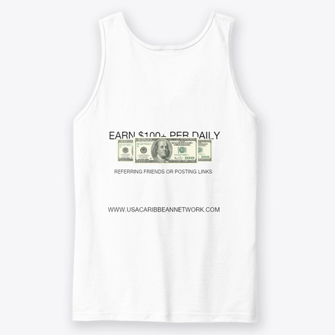 $1 M+ Income Sharing Global Community White T-Shirt Back