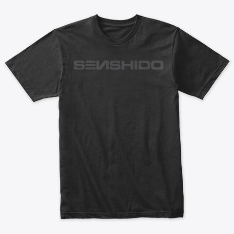 Senshido Dark Vintage Black T-Shirt Front