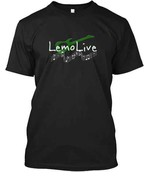 Lemo Live Black T-Shirt Front