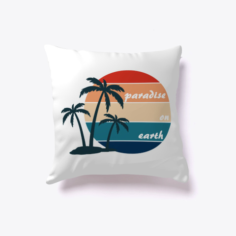Paradise On Earth Outer Banks Palm Trees White T-Shirt Front
