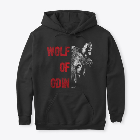 Wolf Of Odin Black T-Shirt Front