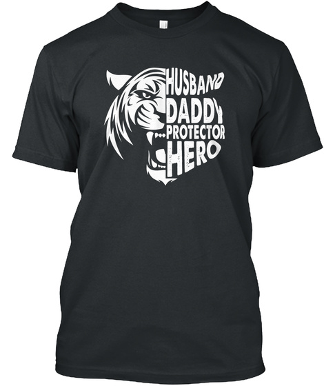 Father's Day Tiger Tee Black T-Shirt Front
